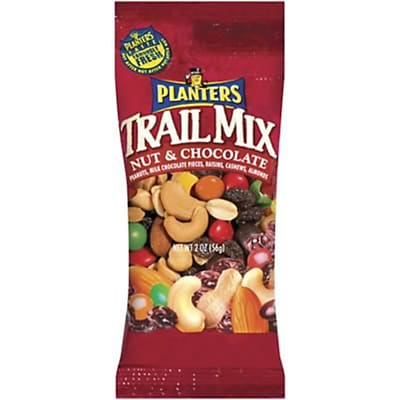 Planters Trail Mix Nut Chocolate 2 Oz 32Pack Staples174