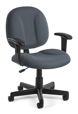 task chair without arms selig eames parts with no ofm comfort 105 aa 801 fabric gray