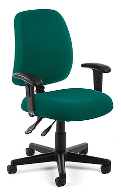teal computer chair function accessories covers task ofm posture fabric and desk office adjustable arms 845123011157