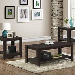 3 Piece Table Set For Living Room Amazon Monarch Cappuccino I 7990p Staples
