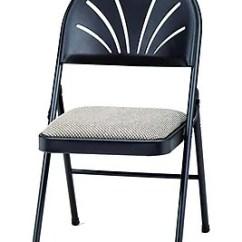 High Folding Chair Pb Teen Desk Suddencomfort Samsonite Steel Fabric Back Black Lace Staples