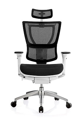 staples ergonomic mesh executive chair with headrest ladder back chairs woven seats eurotech ioo white only https www 3p com s7 is