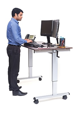 Luxor 48 Crank Adjustable Stand Up Desk  Staples