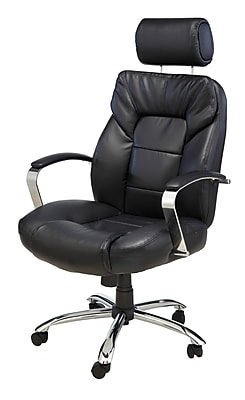 office chair mat 45 x 60 rent wedding chairs comfort products 60-5800t commodore ii oversize leather with adjustable headrest, black ...