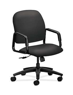 upholstered computer chair foldable aluminum sports hon hon4001sx23t solutions seating fabric high back office fixed arms carbon staples