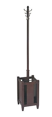 Office Star Espresso Wood Coat Tree with Umbrella Stand