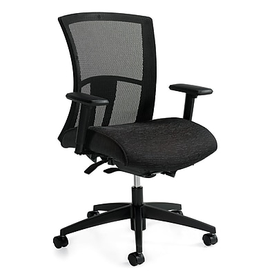 office chair high back best eating chairs for toddlers global vion fabric mesh ergonomic black adjustable arms 6321 8 ur22 staples