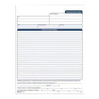 TOPS Carbonless Contractors Invoice Book, 3-Part, 50 ...