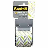 Scotch Decorative Shipping Packing Tape, Green/White Zig ...