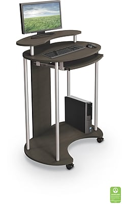 Balt UpRite Work Station Sit  Stand Desk Brown 91105