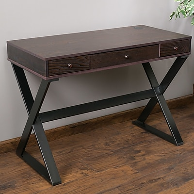 Home Loft Concepts Beverly 3 Drawer Writing Desk  Staples