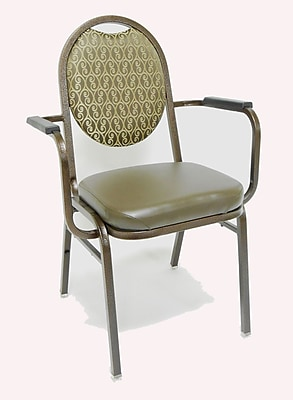 staples stacking chairs recliner lounge chair mlp seating prestige dome back banquet w/ cushion | staples®