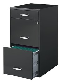 "Office Designs 18"" Deep Vertical File Cabinet, 3-Drawer ..."
