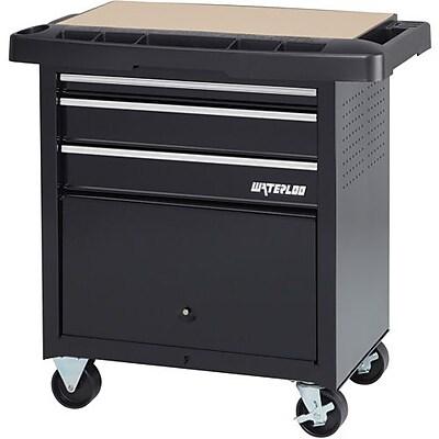 waterloo chariot de projets a 3 tiroirs noir sp pc3bk