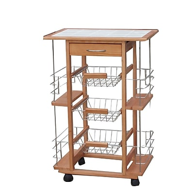 kitchen trolley cart aid.com the urban port ceramic honey c223 123007