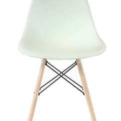 Eiffel Chair Wood Legs Used Brookstone Massage Plata Import White Seat Natural Pc 016n Staples