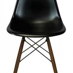 Eiffel Chair Wood Legs Wedding Covers Southampton Plata Import Black Seat Walnut Pc 016w Staples