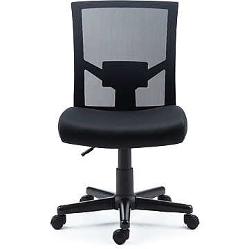 Staples Radnor Mesh and Fabric Armless Task Chair 51469