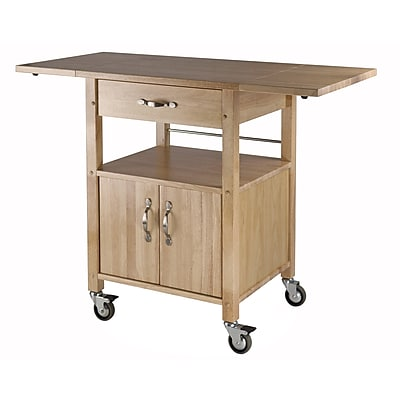 drop leaf kitchen cart hats winsome wood double with 1 drawer cabinet and shelf beech staples