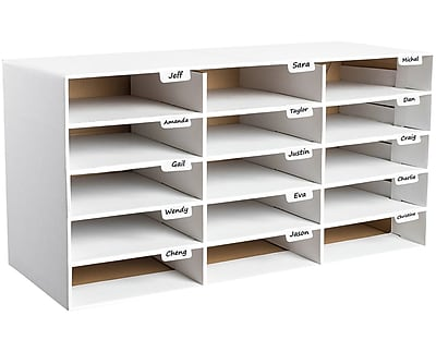 classroom organizer chair covers beach low storage lockers staples adir office file home white 15 slots 501