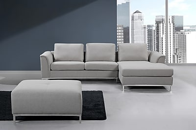 sectional sofa couch sofas toronto cheap beliani oslo corner l 4 seater upholstered light grey staples