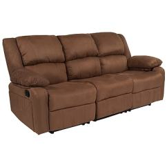Microfiber Sofas Clearance Sofa Uk Flash Furniture Harmony Series With Two Built In Recliners Chocolate Brown Bt70597sofbnmic Staples