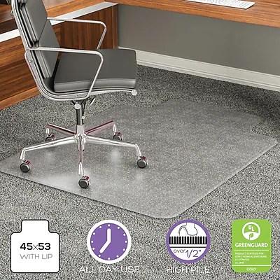 office chair mat 45 x 60 human touch massage parts deflecto execumat x60 vinyl for carpet square https www staples 3p com s7 is