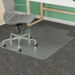 Office Chair Mats Carpet Staples Sage Green Dining Cushions Deflecto 48 X36 Vinyl Mat For Rectangular W Lip Defcm14113com
