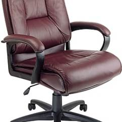 Leather Executive Office Chair Covers Hire Aberdeen Star Burgundy Fixed Arm Ex5162 4 Staples