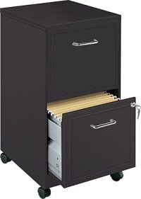 "Office Designs 18"" Deep 2-Drawer Mobile Vertical File ..."