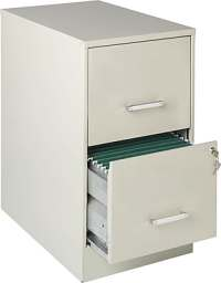 "Office Designs Vertical File Cabinet, 22"" Deep 2-Drawer ..."