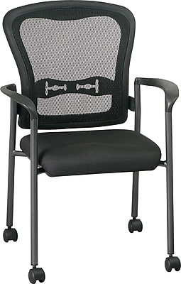staples stacking chairs twin size pull out chair office star™ pro-grid mesh guest with casters | staples®