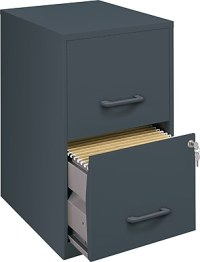 Office Designs 2 Drawer Vertical File, Charcoal,Letter, 14