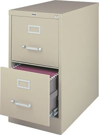 Staples 2-Drawer Letter Size Vertical File Cabinet, Putty ...