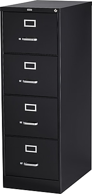Staples 4-Drawer Legal Size Vertical File Cabinet, Black ...