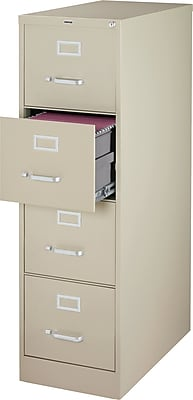 Staples 4Drawer Letter Size Vertical File Cabinet Putty