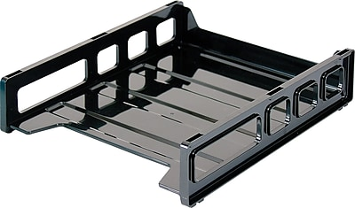 Staples Stackable Desk Trays Front Load Letter Size