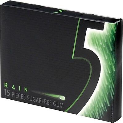 Wrigley39s 5 SugarFree Gum Rain 10 PacksBox Staples