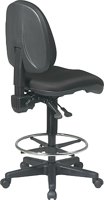 drafting chairs staples nfl bean bag office star deluxe ergonomic chair black https www 3p com s7 is