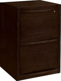 Staples Deluxe Wood Vertical File Cabinet, 2-Drawer ...