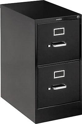 HON 510 Series TwoDrawer Vertical File Cabinet Black