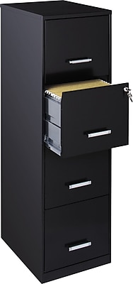 "Office Designs Vertical File Cabinet, 18"" Deep, 4-Drawer ..."