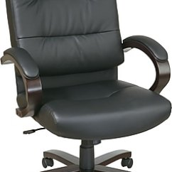 Wood And Leather Executive Office Chairs Swing Chair Cushions India Star Black Espresso Elegant Finish Series Bonded High Back Https Www Staples 3p Com S7 Is