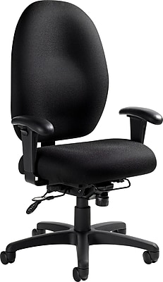 office chair with adjustable arms home theater repair global stamina fabric computer and desk black 2440tdbk https www staples 3p com s7 is