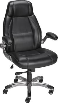 Staples Torrent Bonded Leather Managers Chair, Black ...