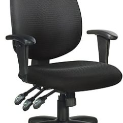 Office Chair With Adjustable Arms Wheelchair Accessories Global Fabric Computer And Desk Black Https Www Staples 3p Com S7 Is