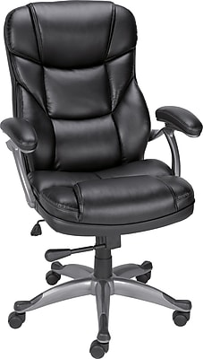 office chair staples nerd muuto osgood bonded leather high back manager s black