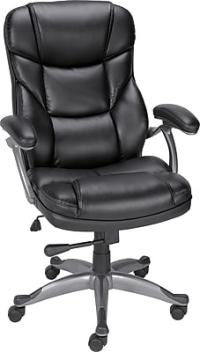 Staples Osgood Bonded Leather High-Back Manager's Chair ...