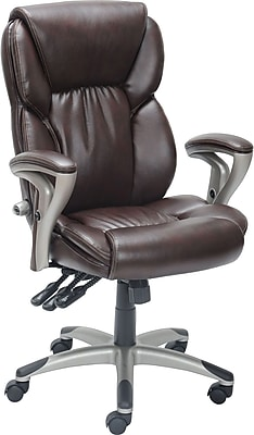 serta managers chair amazon fabric covers staples® high back chair, brown   staples