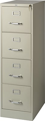 Staples 4-Drawer Letter Size Vertical File Cabinet, Putty ...